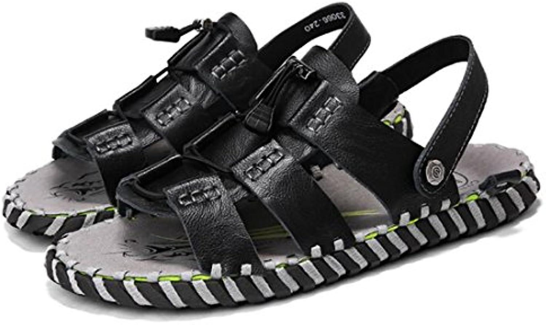 ZHONGST Herren Sommer Sandalen Im Freien Leder Sandalen Casual Strand SchuheZHONGST Herren Sommer Sandalen Freien