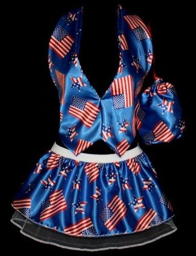 Amerika USA Olympics Gr. Damen Weste, Faltenröckchen für 25.40 cm Uncle Sam Fancy Dress