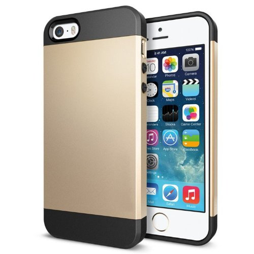 Fiona Hochwertige Tasche für iPhone 4/4S,5/5S,5C,iPhone 6,iPhone 6 Plus, Schutzhülle für Apple iPhone 4/4S,5/5S,5C,iPhone 6,iPhone 6 Plus (Gold, 5/5S)