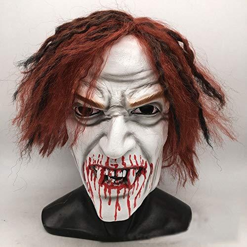 JUFENG Latexmaskenfestival-Party Die Mit Hut Für Maskerade-Halloween-Kostüm Entsetzt,Vampire-OneSize (Vampire Die Maskerade Kostüme)