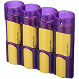 Storacell By Powerpax SlimLine 18650 Battery Caddy, Purple, Holds 4 Batteries