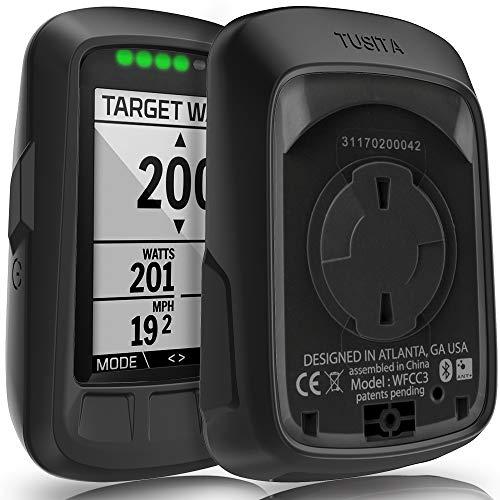 TUSITA Hülle für Wahoo Elemnt Bolt - Silikon Schutzhülle Skin - GPS Bike Computer Zubehör (SCHWARZ) -