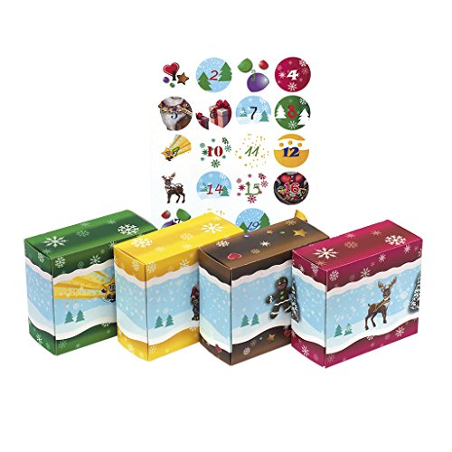 24 Adventsboxen für Kinder: 24 Boxen