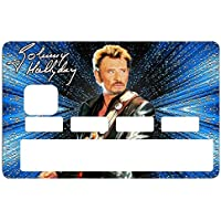 Deco-idees Stickers Autocollant Carte bancaire, Johnny Hallyday, Edit. limitée 300 ex - Autocollant de Haute qualité - thelittleboutique Nice