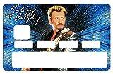 Stickers Autocollant pour Carte bancaire, Johnny Hallyday, 2émé Edit. limitée 300 ex - 1 sur 300 - Différenciez et décorez votre carte bancaire suivant vos envies!! Facile à poser, sans bulles
