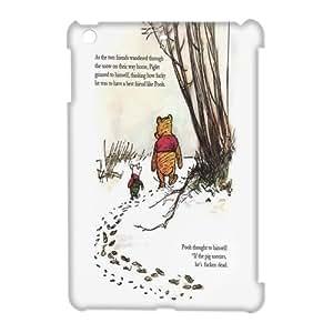 Winnie The Pooh Super Cute Custom Wonderland Design Hardshell iPad Mini Case