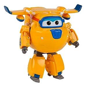 Super Wings - Donnie, personaje transformable, 13.5 cm, color amarillo y azul (ColorBaby 75873)