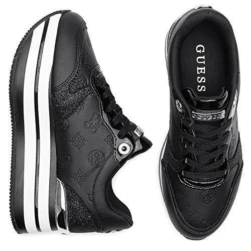 Guess fl7hn3 sneakers con lacci in ecopelle da donna