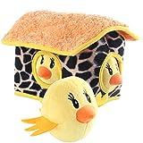 Pet Educational Toys, Hide And Seek, Vocal Chicken Nest Dolls, Bite-Resistant Plush Toys