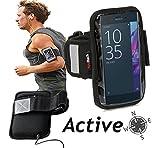 Navitech wasserdicht Schwarz Sport / Fitness / Jogging / Radfahren / Skifahren Armband Tasche Oberarmtasche Schutz Hülle Etui Case für dasSony Xperia X Compact