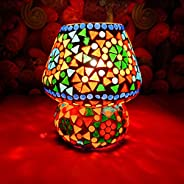 iHandikart Glass Table Lamp, Multicolour, Pack of 1