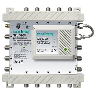 Axing SPU 58-09 SAT-Multischalter (Premium Line, erweiterbar aktiv Quad-tauglich, 5x8)