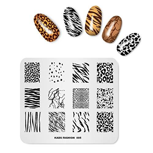 Alexnailart Placa estampado uñas Leopardo Imagen