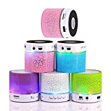 #9: Master Gadget Mini Portable Wireless S10 Bluetooth Speaker with LED light Mic Hand-free call TF USB FM Radio Aux Line IN For Phone PC