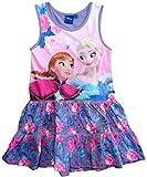 Frozen Kleid Die Eiskönigin Mädchen Disney Anna und ELSA (Lila, 128)