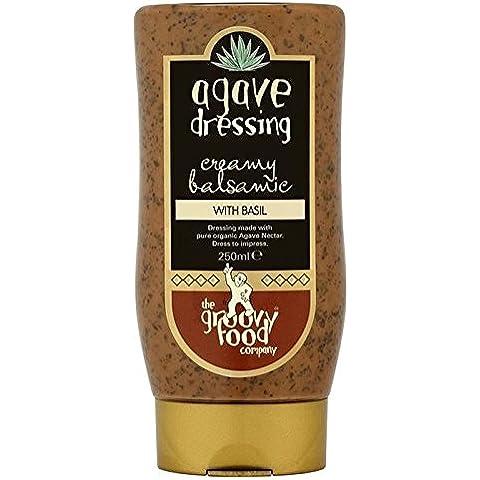 The Groovy Food Co Groovy Balsamico Cibo E Basilico Spogliatoio 250ml (Confezione da 6)