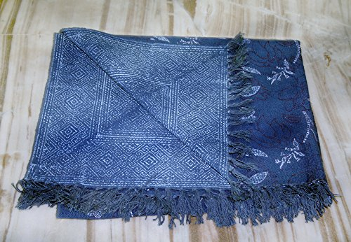 silkroude Bleu Indigo Turc Kilim Tapis réversible Coton Zone Vintage Tapis Kilim Tapis EDH
