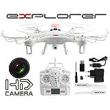 Drone Video Foto HD Kamera 103-108V Explorer 2,4GHz Drohne LED HD Ferngesteuert + Zubehör Quadrocopter LED Kamera HD Fly Extrem Ferngesteuert NEU!