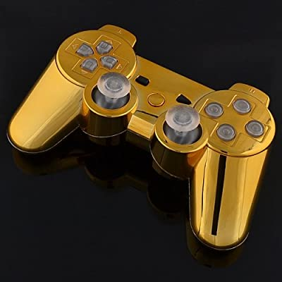 Playstation 3 Controller - Chrome Gold with Clear Buttons