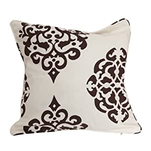 housse de coussin motif 45 x 45cm marron cuisine maison. Black Bedroom Furniture Sets. Home Design Ideas
