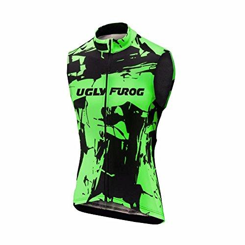 Uglyfrog 2018 Neuester Winter Jersey Thermisches Damen Thermo ?rmelloses Frauen Die Jersey Fahrrad Bekleidung Triathlon Vest ZO08 (Fahrradbekleidung Wolle)