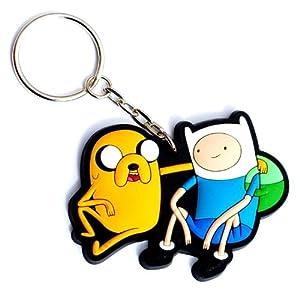 Hora De Aventuras Finn y Jake Llavero de goma de Toy Zany