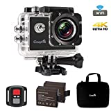 Action Kamera Wasserdicht, CrazyFire Action Cam WiFi 4K,16MP Helmkamera Skifahren 170 Grad...