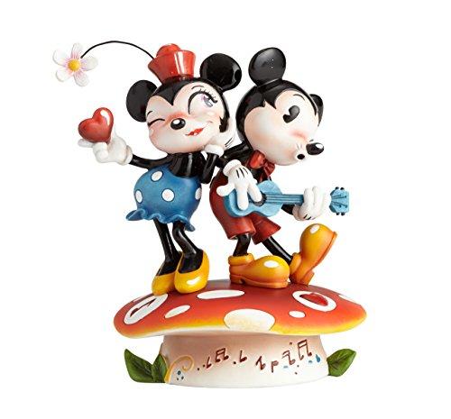 Disney Miss Mindy Presents Mickey & Minnie Mouse Figurine, Resin, Multicolour, 12 x 10 x 15 cm