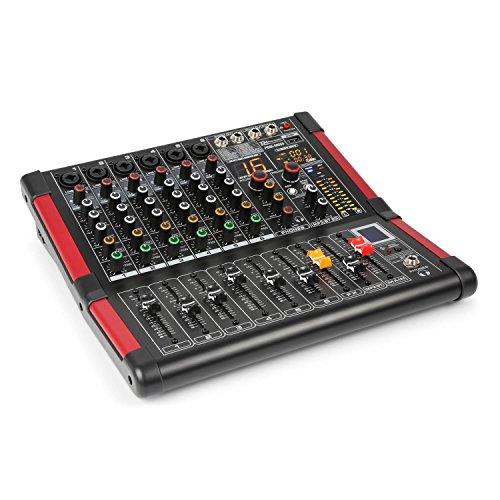 Power Dynamics PDM-M604 Music Mixer 6 Mikrofoneingänge 24-Bit Multi FX-Prozessor
