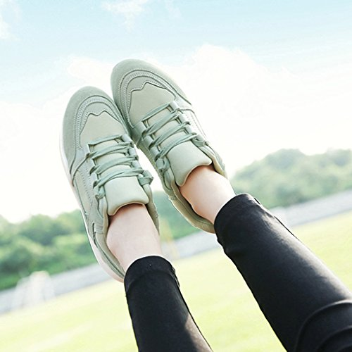 HWF Scarpe donna Scarpe sportive primaverili Scarpe da donna Scarpe da corsa Studenti Scarpe casual Scarpe singole Donna ( Colore : Bianca , dimensioni : 36 ) Verde