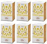 (6 PACK) - Higher Living - Lemon & Ginger | 15 Bag | 6 PACK BUNDLE