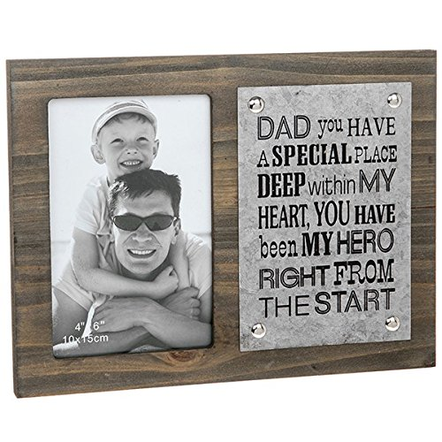 dad-my-hero-frame-dad-photo-frame-18cm-x-24cm-fathers-day-gift-frame-zinc-plate-on-wood-baby-first-c