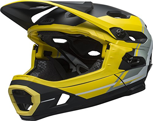 BELL Super DH MIPS Fahrrad Helm, Yellow/Silver/Black, Large (58-62 cm)