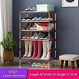 UYEdecor Rack de Zapatos de múltiples Capas con pasamanos Galvanizado Zapata de Tubo de Acero Organizador de Zapatos Almacenamiento de Zapatos extraíble para Muebles para el hogar 07QT Pink Dots