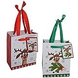 """12 x kleine Geschenktüten""""Rentier H 14 cm - Weihnachtstüten - Weihnachtsgeschenktüten"""