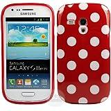 Samsung Galaxy S3 Mini i8190 TPU Gel Case - Rot Polka Dots Silikon Case Schutz Hülle Etui Für Samsung Galaxy S3 Mini i8190 - thinkmobile