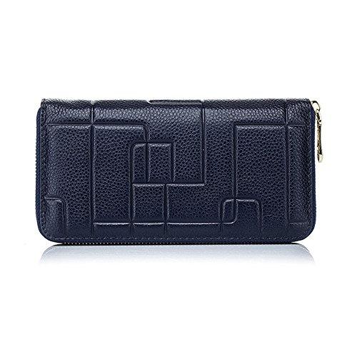 Back to School Essentials 2017-valentoria ® da donna, Lady portafoglio borsa porta carte di credito contanti Titolare frizione lungo borse regali di Natale idee Red Blue