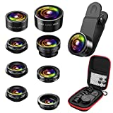 Best Objectifs pour appareil photo Samsung Smartphone - AMIR Kit Objectif Téléphone 9 en 1, Zoom Review