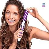 HCLESTORE Fer à Boucler Professionnel Salon de coiffure Portable Fer à Friser Céramique Curl spirale Curling Waver Maker (violet)
