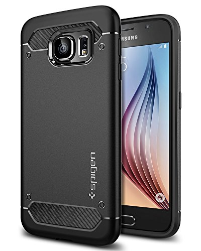 Spigen Capsule Ultra Rugged Case for Samsung Galaxy S6 Case -Black SGP11439