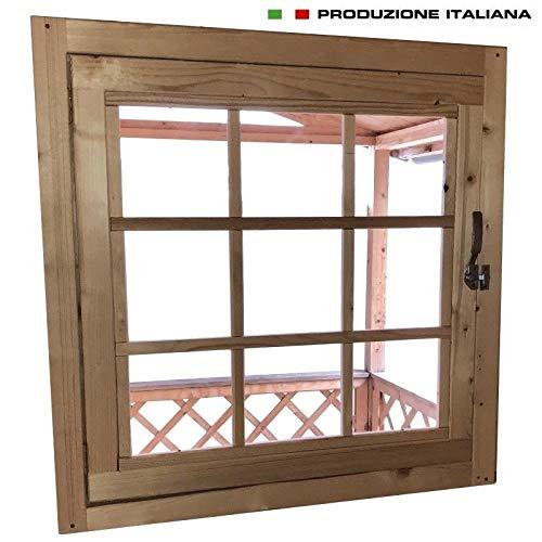 Home Idea Italia Finestra In Legno Per Casetta 81 X 81 Cm
