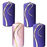 Weihnachten Kerzen Set 4 Stück Stumpenkerzen Adventskerzen 100x50 Dekokerzen Kerzen für Adventskranz Tischkerzen Brauch aus Österreich IW5
