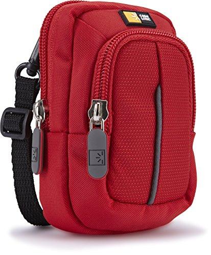 Case Logic DCB302 Kameratasche S inkl. Schultergurt/Gürtelschlaufe (mit Zubehörfach) rot/grau Rot Micro Case
