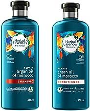 Herbal Essences Bio Renew Argan Oil Of Morocco Shampoo, 400 ml with Herbal Essences Bio Renew Argan Oil Of Morocco Condition