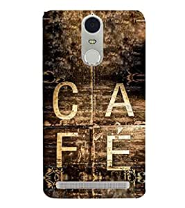 Vintage Café Sign 3D Hard Polycarbonate Designer Back Case Cover for Lenovo K5 Note :: Lenovo Vibe K5 Note Pro
