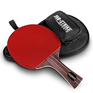 Pro-Strike Sports Ping Pong Paddle & Protective Case - Professional Table Tennis Racket | Build A Perfect Ping Pong Paddle Set or Table Tennis Set | Wood Handle Tennis Bat 5 Ply Review 2018