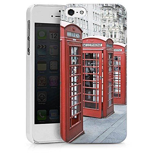 Apple iPhone X Silikon Hülle Case Schutzhülle Rote Telefonzelle England Großbritannien Hard Case weiß