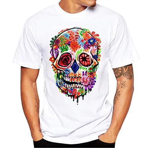 Modaworld _Camisetas Hombre Manga Corta Camiseta de impresión...