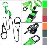 eaglefit® Sling Trainer mit Umlenkrolle,Trainingsposter, schwarz
