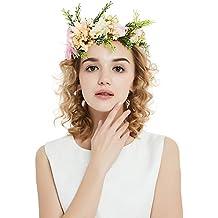 ... con fiori e nastro. OKBO Coroncina fiori capelli per sposa damigella  d onore bambina donna per festa matrimonio fotografia 8fd0fc12633b